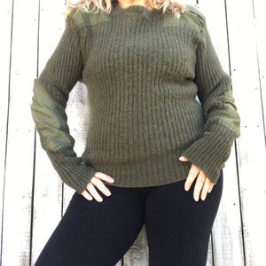 """""""Military Sweater Men's Jersey Man's Heavy Olive"""